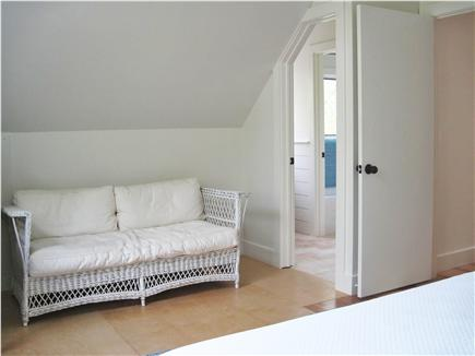Eastham Cape Cod vacation rental - Master bedroom sitting area looking into the bathroom