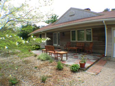 Orleans, Mayflower Point Cape Cod vacation rental - House situated on large lot with much privacy,