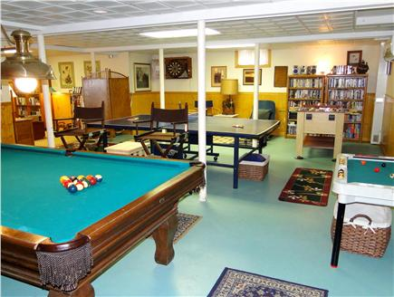 Mayflower Point, Orleans, MA Cape Cod vacation rental - Fun-filled lower level rec room – games galore!