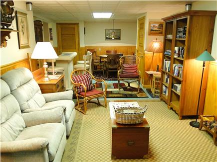 Mayflower Point, Orleans, MA Cape Cod vacation rental - Separate lower level space with TV, bar, movies and books