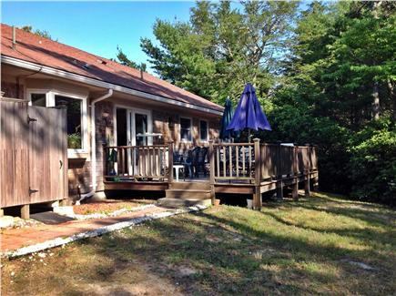 Orleans, Mayflower Point Cape Cod vacation rental - Private Deck (gas grill,  screened section) & H/C outdoor shower