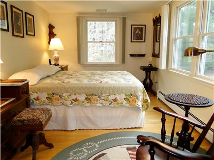 Mayflower Point, Orleans, MA Cape Cod vacation rental - Large queen bedroom with many windows