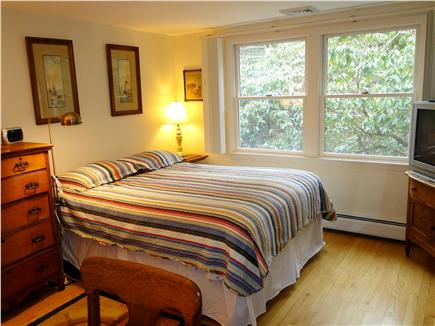 Orleans, Mayflower Point Cape Cod vacation rental - Master bedroom with queen bed, TV, private bath