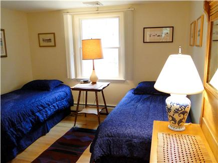 Orleans, Mayflower Point Cape Cod vacation rental - Twin bedroom (or convert to a King) across from bathroom