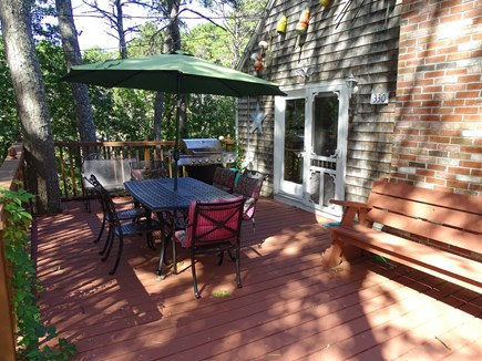 Eastham Cape Cod vacation rental - Large deck with grill, dining area; very private