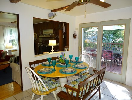 Eastham Cape Cod vacation rental - Dining area with French Doors to deck area