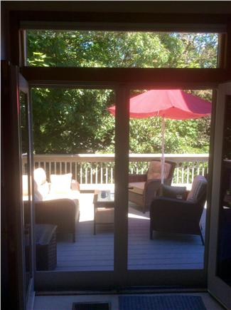 Harwichport Cape Cod vacation rental - Upstairs deck off master bedroom