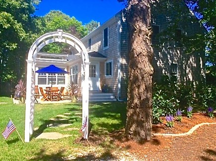 S.Harwich/S.Chatham border Cape Cod vacation rental - Side view from lane