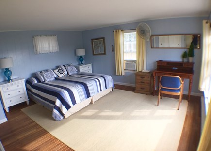 Wellfleet Cape Cod vacation rental - Upstairs master bedroom with ensuite bathroom and walk-in closet