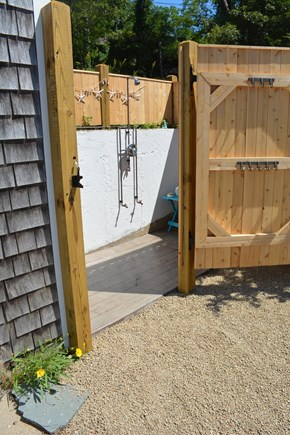 Wellfleet Cape Cod vacation rental - New outside shower.