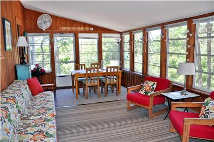Wellfleet Cape Cod vacation rental - Dine with a water view in the sunroom
