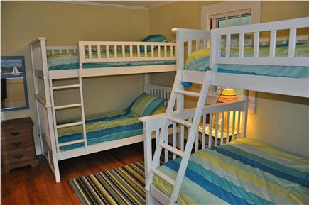 Wellfleet Cape Cod vacation rental - Bedroom # 3 (1st floor) has 2 sets of bunk beds sleeping 5 in all