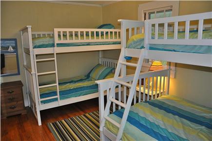Wellfleet Cape Cod vacation rental - Bedroom # 3 (1st floor) has 2 sets of bunk beds sleeping 5 in all