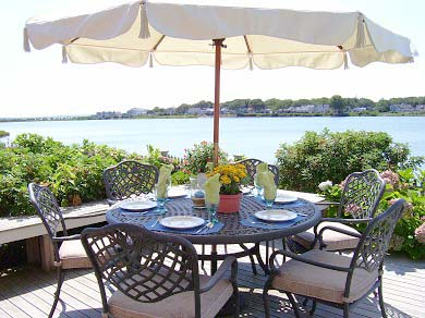 East Falmouth (Maravista) Cape Cod vacation rental - Dining on the deck