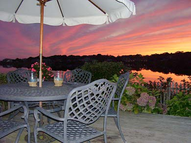 East Falmouth (Maravista) Cape Cod vacation rental - Another glorious sunset - front row view from deck