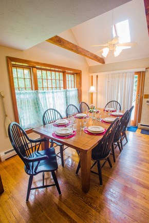 West Yarmouth Cape Cod vacation rental - Dining area with cathedral ceilings