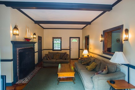 West Yarmouth Cape Cod vacation rental - Living area right off the deck and kitchen