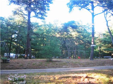 South Chatham Cape Cod vacation rental - View from front porch to island with playground