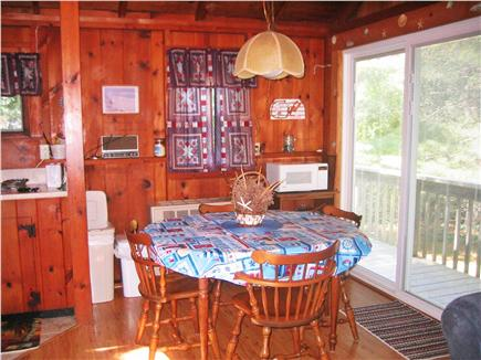 South Chatham Cape Cod vacation rental - Living -Eating area with slider to the deck