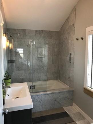 Provincetown Cape Cod vacation rental - Marble bathroom, second floor. Off queen bedroom on second floor.