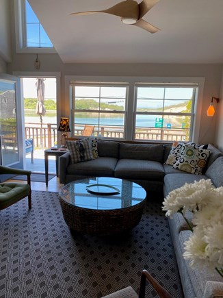 Provincetown Cape Cod vacation rental - Light and Airy Living Room with Cathedral Ceiling