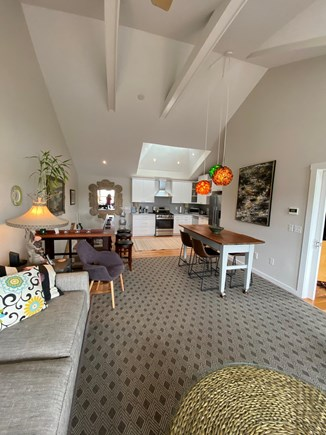 Provincetown Cape Cod vacation rental - Kitchen and dining area from living room