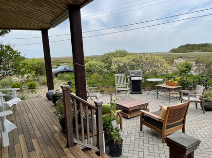 Provincetown Cape Cod vacation rental - Outside spacious porch and patio with grill and seating