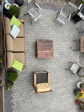 Provincetown Cape Cod vacation rental - Bird's eye iew of patio from second floor deck