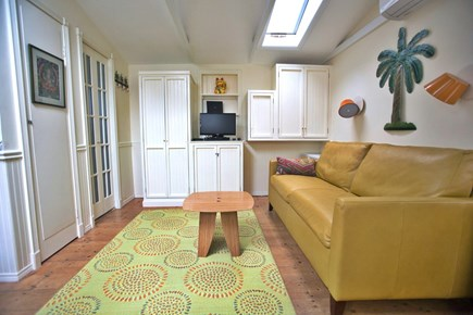 Provincetown Cape Cod vacation rental - Living area with TV/DVD and wireless.