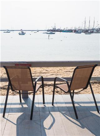 Provincetown Cape Cod vacation rental - Deck several steps from the unit. Overlooks private beach.