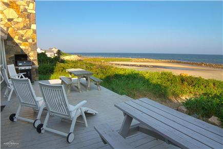 East Dennis Cape Cod vacation rental - A spectacular view of the beach greets you from the deck