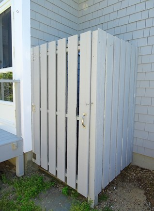 East Dennis Cape Cod vacation rental - After a refreshing ocean swim, wash off in our outdoor shower