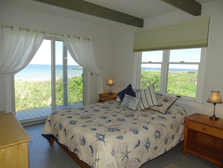 East Dennis Cape Cod vacation rental - Bright main floor queen bedroom looks out on the water