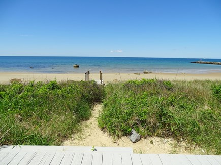 East Dennis Cape Cod vacation rental - At low tide, our beach is a wondrous sand & tide pool playground
