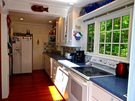 Woods Hole, Gansett Woods area Woods Hole vacation rental - The Custom-Built Kitchen has Delft Tiles and connects to the Deck