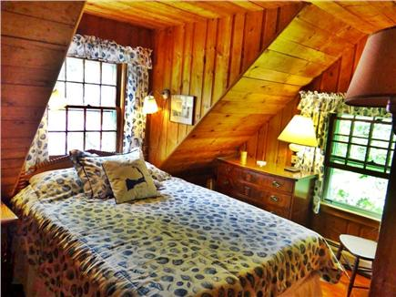 Woods Hole, Gansett Woods area Woods Hole vacation rental - This Queen Bedroom is Cozy with its Blue Seashells Theme