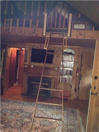 Dennis Port Cape Cod vacation rental - Livingroom with a loft
