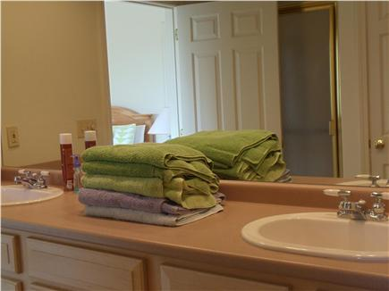 Lewis Bay,West Yarmouth Cape Cod vacation rental - Double Sinks in Large Full Bath attached to 1st floor Master BR