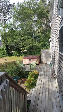 Chatham Cape Cod vacation rental - Backyard deck, outdoor shower and hot tub