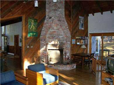 Wellfleet, Duck Pond Area Cape Cod vacation rental - The Fireplace