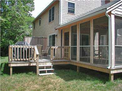 Eastham Cape Cod vacation rental - Deck and Sceened in Porch.  Enclosed, Outdoor Shower on Deck
