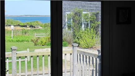 Barnstable Cape Cod vacation rental - Private sunny deck off of dining room