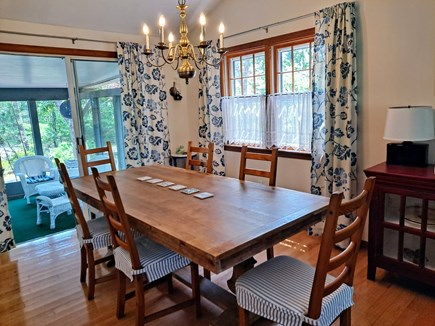 South Chatham Cape Cod vacation rental - Dining Room to the Screened In Porch