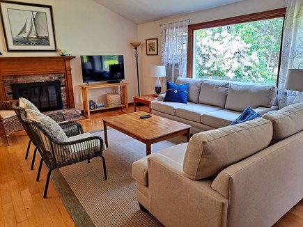 South Chatham Cape Cod vacation rental - Living Room, 50 Inch TV