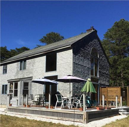 Wellfleet Cape Cod vacation rental - Dine on the deck surrounded by private, spacious yard