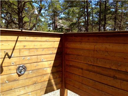 Wellfleet Cape Cod vacation rental - Spacious, sunny 8' X 7' outside shower with cedar floor and walls