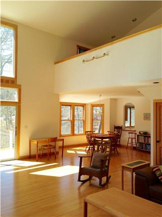 Wellfleet Cape Cod vacation rental - Open Living/Dining area with windows and balcony