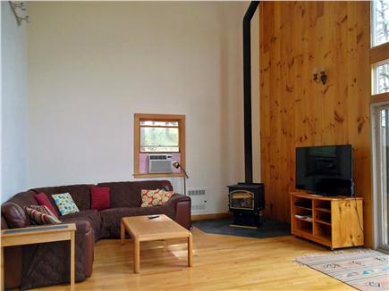 Wellfleet Cape Cod vacation rental - Big screen TV and new wrap around sofa