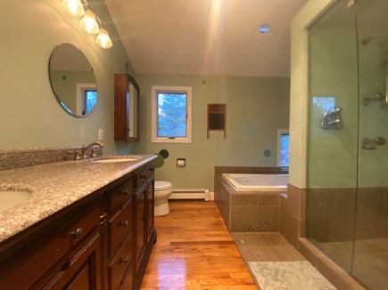 Truro Cape Cod vacation rental - Luxurious Master Bath w/ Walk-In Shower &  Jacuzzi Tub