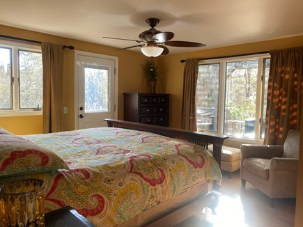 Truro Cape Cod vacation rental - 1st Fl. Master Suite w/ Private Deck Entrance and comfy King Size